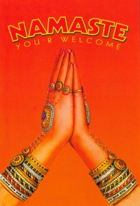 Namaste - Postcard