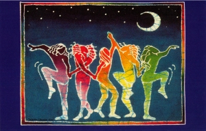 Rainbow Dancers - Postcard