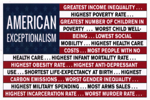 American Exceptionalism - Postcard