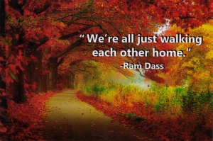 We're all just walking each other home - Ram Dass - Postcard
