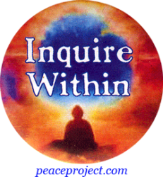"""Inquire Within - Button / Pinback (1.5"""")"""