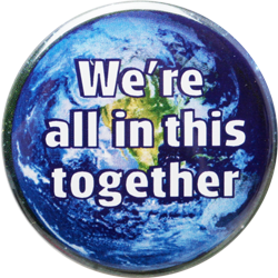 We're all in this together - Button