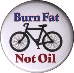 Burn Fat Not Oil - Button