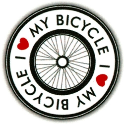 """I Love My Bicycle - Button (1.5"""")"""