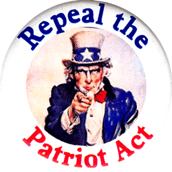 B725 - Repeal The Patriot Act - Button