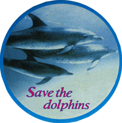 Save The Dolphins Button Pinback 1 75 Quot Peace