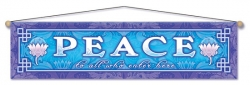 Peace To All Who Enter Here - Entry Blessing Banner