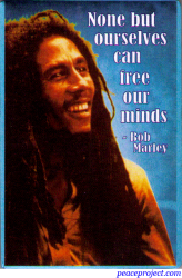 GM02 - None But Ourselves Can Free Our Minds - Bob Marley - Refrigerator Magnet