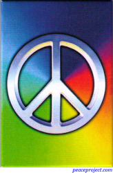 Peace Rainbow - Rectangular Magnet