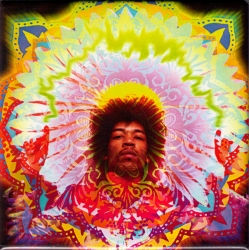 "Jimi Hendrix Electric Daisy - Rectangular Magnet (3"" X 3"")"