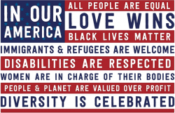 "In Our America... - Rectangular Magnet (3"" X 2"")"