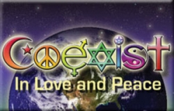 Coexist in Peace and Love - Rectangular Magnet