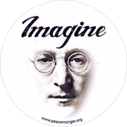 "Imagine - Round Bumper Sticker / Decal (5"" circular)"