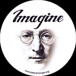 """Imagine - Round Bumper Sticker / Decal (5"""" circular)"""