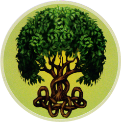 "Celtic Tree - Window Sticker / Decal (4.5"" Circular)"