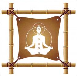 "Bamboo Meditation - Window Sticker / Decal (4.5"" X 4.5"")"