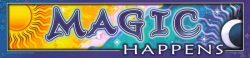 "Magic Happens - Bumper Sticker / Decal (11"" X 2.75"")"