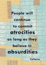 People Will Continue To Commit Atrocities... Postcard