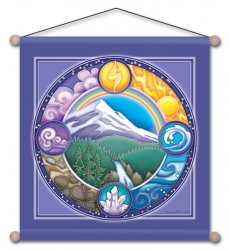 Rainbow Mountain - Meditation Banner