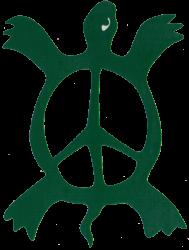 VC004 - Peace Turtle - Vinyl Cutout