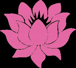"Lotus Flower - Vinyl Cutout Rub-on Sticker (4.25"" X 3.75"")"