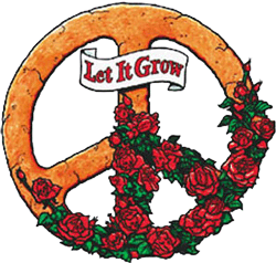WA012 - Let It Grow Peace Sign - Window Sticker