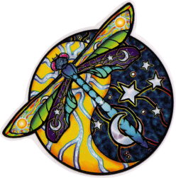 Cosmic Dragonfly - Window Sticker