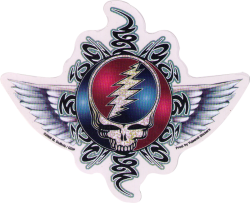 """Tribal Steal Your Face - Grateful Dead - Window Sticker / Decal (6"""" X 5"""")"""