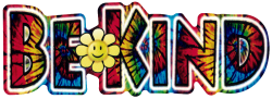 "Tie Dye Be Kind - Window Sticker / Decal (6.5"" X 2.25"")"