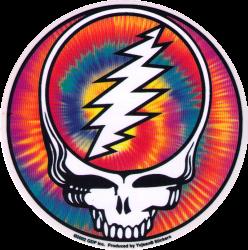 "Steal Your Face Tie Dye - Grateful Dead - Window Sticker / Decal (5"" Circular)"