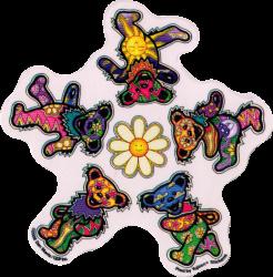 """Grateful Dead Daisy Bears - Window Sticker / Decal (5.75"""" X 5.75"""")"""