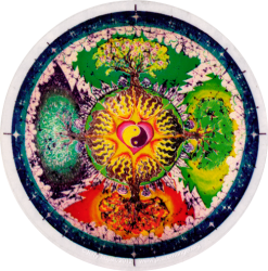 Four Seasons Mandala - Window Sticker