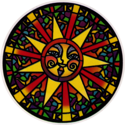 Stained Glass Sun - Window Sticker