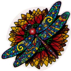 Celestial Dragonfly - Window Sticker