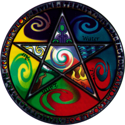 Elements Pentagram - Window Sticker