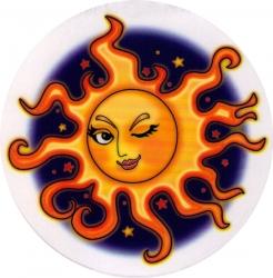 "Seductive Sun - Window Sticker / Decal (4.75"" Circular)"