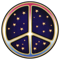 WA185 - Starry Peace Sign - Window Sticker