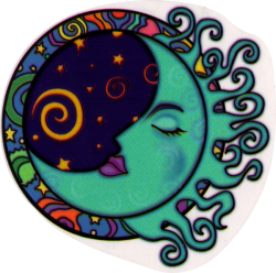 Lunar Curls - Window Sticker
