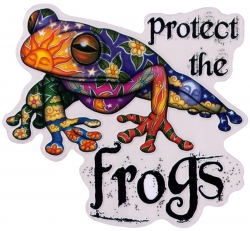 """Protect the Frogs - Window Sticker / Decal (5.5"""" X 5"""")"""