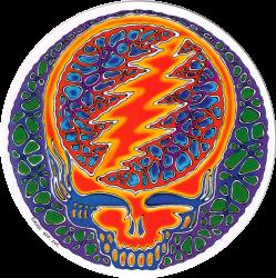 "Rusty Blue Steal Your Face - Grateful Dead - Window Sticker / Decal (5"" Circular"
