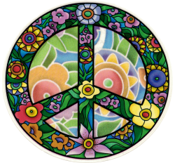 "Flower Peace - Window Sticker / Decal (4.75"" X 4.5"")"