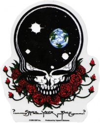 """Grateful Dead Space Your Face - Window Sticker / Decal (4.75"""" X 5.75"""")"""