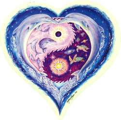 Sea Life Yin-Yang Heart - Window Sticker