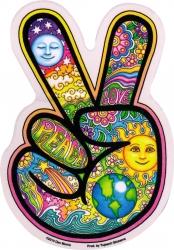 "Peace Hand - Window Sticker / Decal (4"" x 6"")"