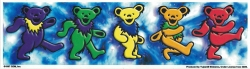 "Grateful Dead Bears Dancin' at the Greek - Window Sticker / Decal (9.5"" X 2.5"")"