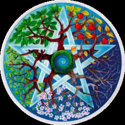 Seasons Pentagram - Window Sticker