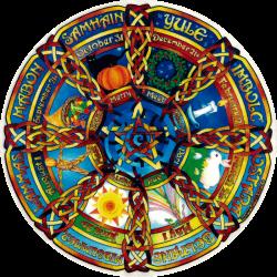"Pagan Holiday - Window Sticker / Decal (4.5"" X 4.5"")"