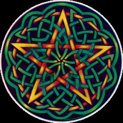 "Celtic Pentagram - Window Sticker / Decal (4.5"" X 4.5"")"