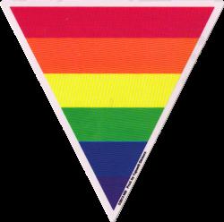 """Triangle Rainbow - Window Sticker (5"""" X 6"""")"""