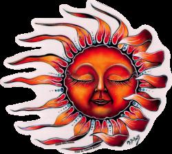 WA405 Sleeping Sun - Window Sticker